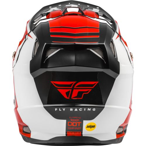 CASQUE FLY TOXIN TRANSFER 2021 ROUGE/NOIR/BLANC