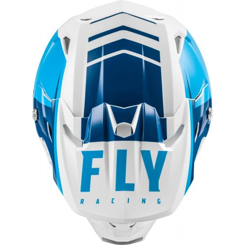 CASQUE FLY TOXIN TRANSFER 2021 BLEU/BLANC