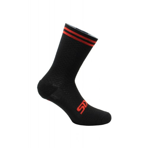 CHAUSSETTES SIXS MERINOS, RED STRIPES