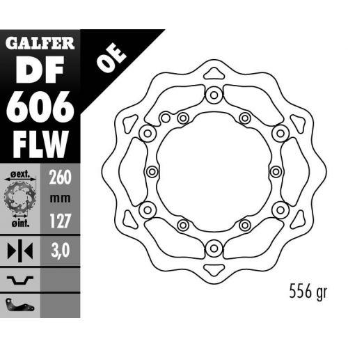 DISQUE AVANT GALFER WAVE FLOTTANT 260MM