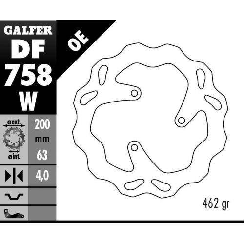 DISQUE GALFER FIXE WAVE 200X4MM RIEJU