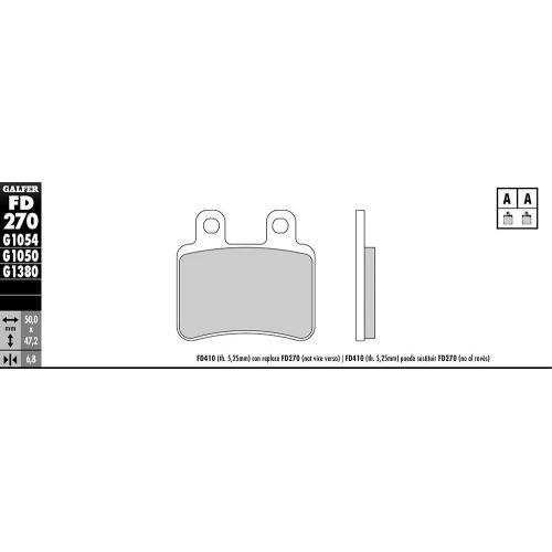 PLAQUETTES DE FREIN G1050 SCOOTER SEMI METAL FD270