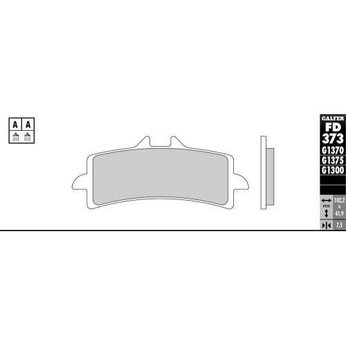 PLAQUETTES DE FREIN G1375 SINTER RACING FD373 (IDEM 07BB37)