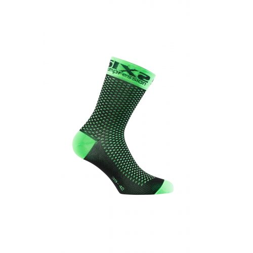 CHAUSSETTES SIXS COMP SHO, GREEN FLUO