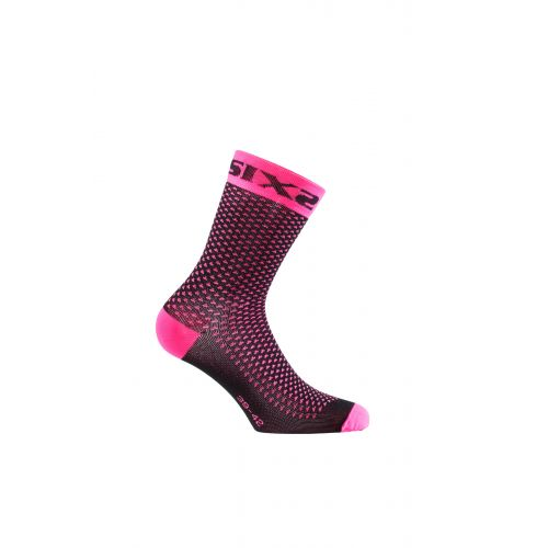 CHAUSSETTES SIXS COMP SHO, PINK FLUO