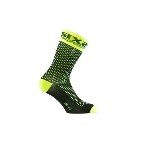 CHAUSSETTES SIXS COMP SHO, YELLOW FLUO