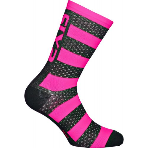 CHAUSSETTES SIXS LUXURY MERINOS, PINK FLUO