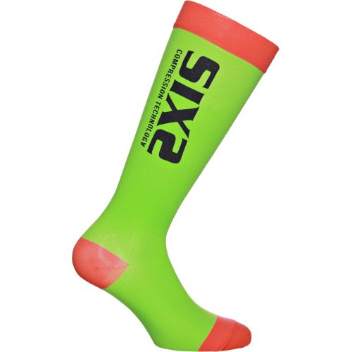 CHAUSSETTES RECOVERY SOCK, GREEN/RED