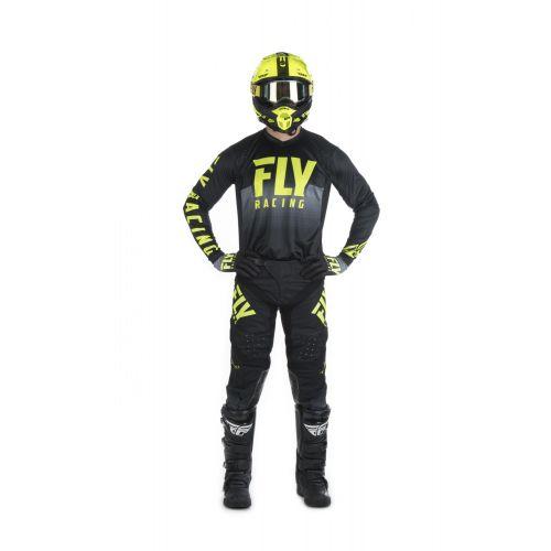MAILLOT FLY LITE HYDROGEN 2019 JAUNE FLUO/NOIR